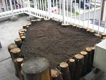 屋上花壇施工軽量土壌
